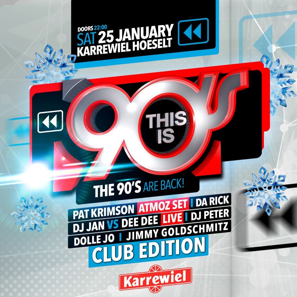 This is 90's Club Edition at Karrewiel Hoeselt