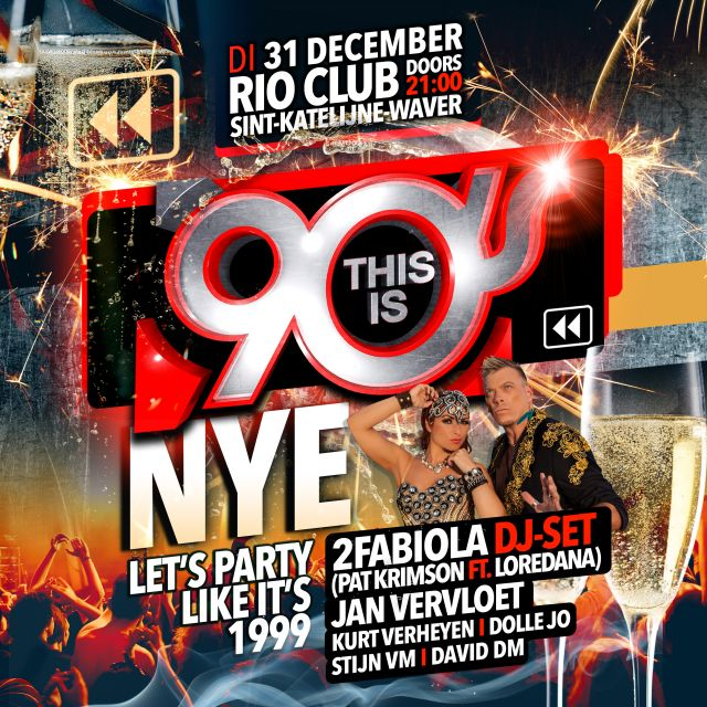 This is 90s NYE at Rio Club
